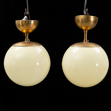 A pair of ceiling lights, mid 20th century.