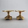A pair of late empire brass stands, second half of the 19th century.