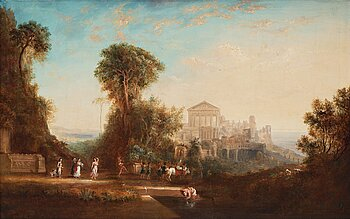 NICOLAS POUSSIN, in the manner. Unsigned. Canvas 82 x 129 cm.