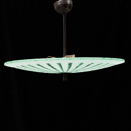 A 3-light ceiling lamp, first half of the 20th century.