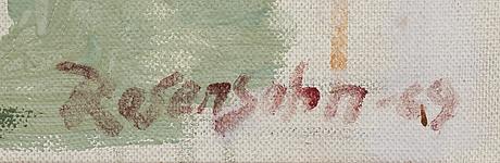 Lennart rosensohn, oil on canvas, signed.