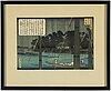 Hasegawa sadanobu i, two colour woodblock prints from album, after, japan, 20th century.