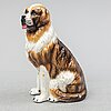A ceramic sculpture of a dog, probably italy, 1988.