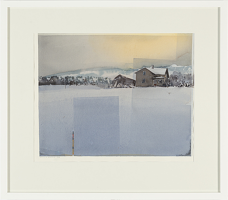 Lars lerin, watercolour, signed and dated -92.