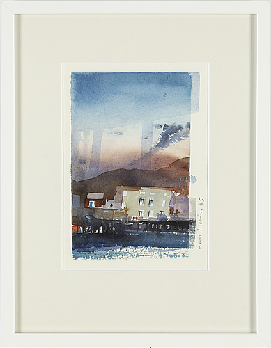 Lars lerin, watercolour, signed and dated -95.