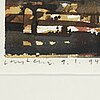 Lars lerin, watercolor. signed and dated 9/1 -94.