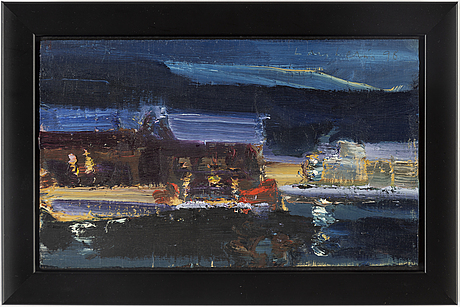 Lars lerin, oil on panel, signed and dated -98.