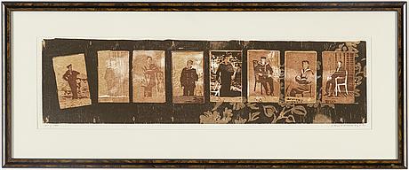 Lars lerin, träsnitt, signerat och daterat 86-91. numrerat 161/360.