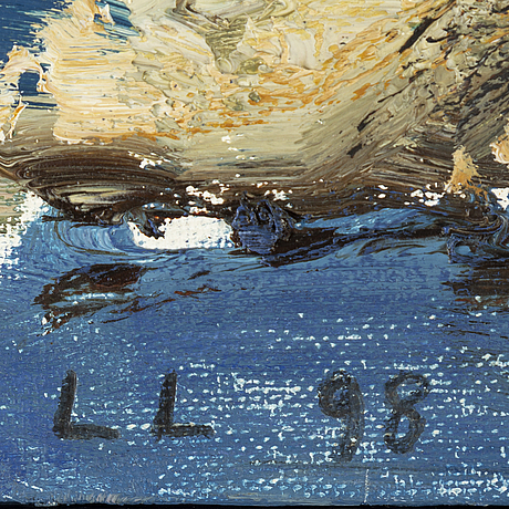 Lars lerin, oil on canvas/paper-panel, signed and dated -98.