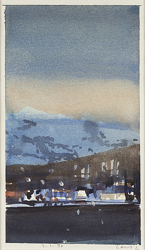Lars lerin, watercolor, signed and dated 3/1 - 96.