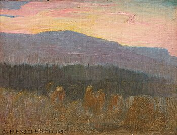 396. Otto Hesselbom, Early morning, scene from Dalsland, Sweden.