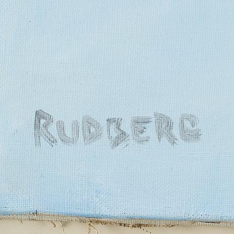 Gustav rudberg, olja på duk, signerad.