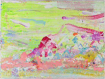 BRENDAN CASS, acrylic in canvas, signed nad dated 2009 verso.
