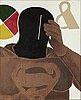 Emilio tadini, akryl på duk, signerad och daterad 1973 a tergo.