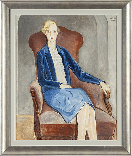 Einar jolin, signed and dated jolin 1926. oil on canvas.