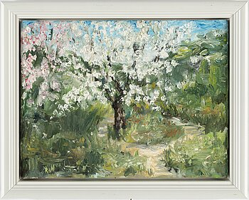 MARIE CAPALDI, oil on canvas, signed and dated 2011 verso.