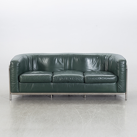 """An """"onda"""" leather sofa by jonathan de pas, donato d. urbino & paolo lomazotti for zanotta, designed in 1985."""