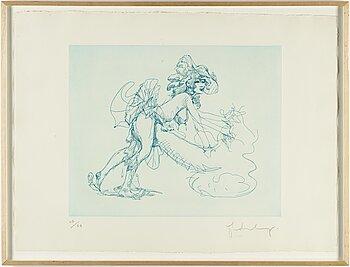 CLAES OLDENBURG, färglitografi, 1975, signerad 60/60.