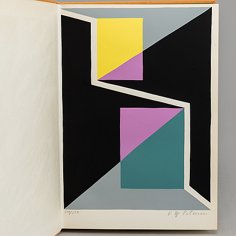 "Bok, ""konkret konst"", vilhelm bjerke petersen, raben & sjöberg 1956, meijels bokindustri, halmstad 1956, 119/150."
