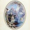 John bell, olja på papper, signerad 1863.