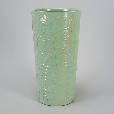 Anna-lisa thomson, an earthenware vase from upsala-ekeby, 1940's/50's.