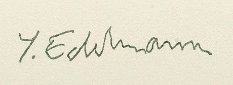 YrjÖ edelmann, stamped signature and numbered hc.