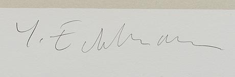 YrjÖ edelmann, signed and numbered 65/150.