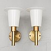 Uno & Östen kristiansson, a pair of brass wall light from luxus.