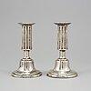 Jacob mÖller, a pair of silver candlesticks, malmö 1826.