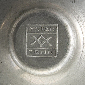 Four candel sticks, tin, art deco, ystad tenn, 1930-tal.