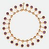 A karl-ingemar johansson necklace in 18k gold set with faceted amethysts.