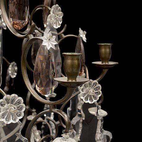 Ljuskrona, rokokostil, 1900-talets första hälft.
