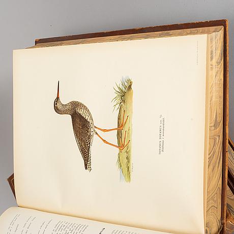 Books, 3 vol,  'svenska fåglar', m,w & f von wright. förlaget svenska fåglar stockholm 1927- 1929.