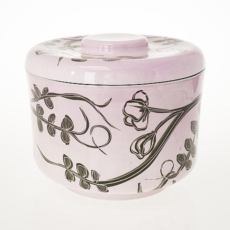 Heini riitahuhta, a porcelain pot, 'virna' signed heini riitahuhta 2005.