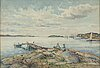 Anna gardell-ericson, watercolour, signed, lysekil.