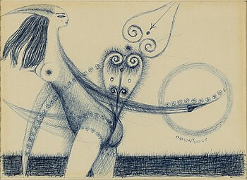 Max Walter Svanberg, drawing, signed and dated -60.
