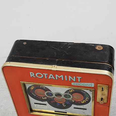Spelmaskin, rotamint record, 1900-talets mitt.