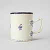 A blue and white and enamelled export porcelain jug, qing dynasty, jiaqing (1796-1820).