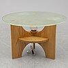 A swedish modern glass coffee table, 1940's.