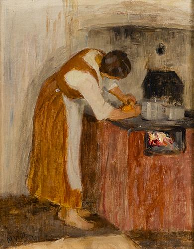 Maria wiik, olja på duk, signerad och daterad-21.