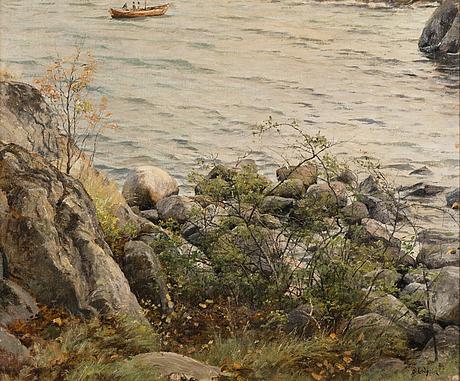 Berndt lindholm, fishermen at dawn.