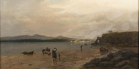 Oscar kleineh, crab fishing at ebb tide.