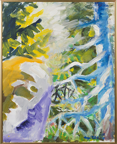 Yngve bÄck, oil on canvas, signed and dated -56.