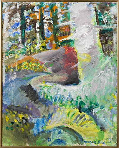 Yngve bÄck, oil on canvas, signed, unclear dating.