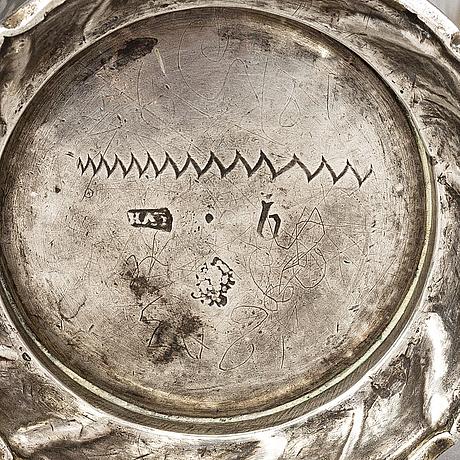 Lucas von der hagen, a silver beaker, stockholm 1744.