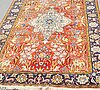 A carpet, old qum, ca 289,5-294 x 147,5-150,5 cm.