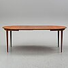 A swedish teak and oak dining table, 1960's.