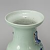 Three blue and white vases, qing dynasty, late 19th/early 20th century.