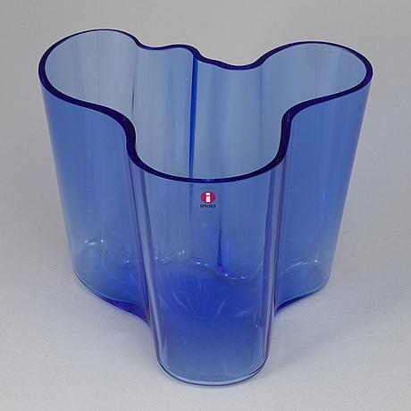 A 'savoy' glass vaseb by alvar aalto, iittala, finland.
