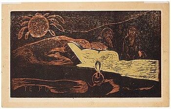 "509. Paul Gauguin, ""Te Po (La grande Nuit)""."